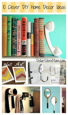 10 Clever DIY Home Decor Ideas