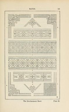 A handbook of ornament Bands page 141 the interlacement band
