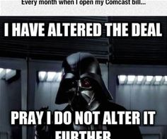 Thanks Comcast Funny Pictures Funny Laugh Star Wars Jokes
