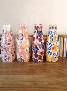 Emma Bridgewater Studio Special Large Milk Bottles for Collectors Day 2014 Emma Bridgewater Pottery, Living In England, Milk Bottles, My Tea, Cow, Ceramics, Mugs, Coffee, Studio