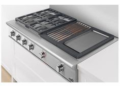 Marvelous DCS Wide Professional Cooktop With 4 Dual Flow Burners, Grill U0026 Griddle    Natural Gas   Stainless Steel