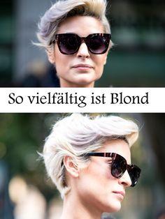 So vielfältig ist Blond - hier sind die besten Blondnuancen und auch kleine Kniffs - wie violette Strähnen - auf einen Blick versammelt!