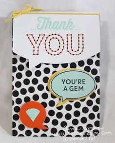 Sew you Paper Pumpkin card with no sewing from the March 2015 kit. www.carriestamps.com