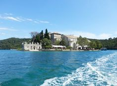 The idyllic National Park of Mljet with the small Island of St Marija
