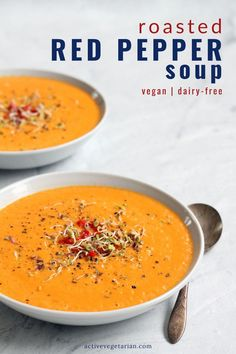 This soup is so simple, that you might be wondering if I missed something while typing the recipe. But trust me, less is best. #dairyfree #vegan #plantbased #realfood #wfpb #easyvegandinnerrecipe