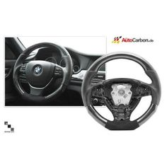 Bimmian STW01PBB3 Autocarbon Carbon Fiber Alcantara Steering Wheel For F01 7 Series Standard Wheel, As Shown