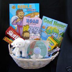 Christian easter basket alternative candy favor bags religious jesus loves you christian easter gift basket for children ebay 3795 negle Images