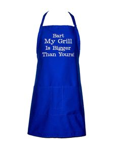 Funny Adult Apron, My Grill Is Bigger Than Yours, Custom Birthday Gift, For Hubby, Boyfriend, Personalize With Name, Ships TODAY, AGFT 409 Great Gifts For Dad, Gifts For Family, Gifts For Friends, Funny Aprons, I Grill, Grilling Gifts, Chef Apron, Letterbox Gifts, Sewing Studio