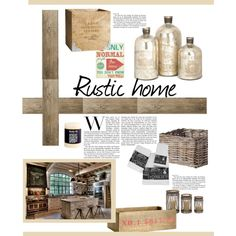 """""""Rustic home"""" by gelykou on Polyvore Rustic, Polyvore, Home, Country Primitive, Rustic Feel, Retro, Farmhouse Style, Primitives, Haus"""