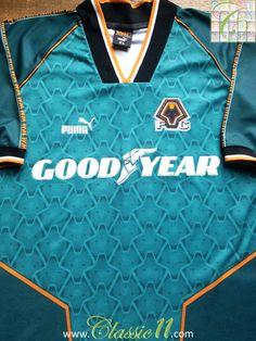 1996 97 Wolverhampton Wanderers Away Shirt (XL). WolverhamptonVintage  ShirtsFootball ShirtsPremier LeagueWolvesVintage T ShirtsSoccer ... 694afac6b