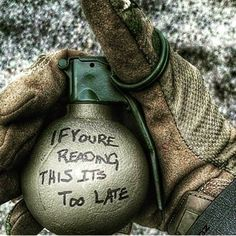 Now that's Marine Corps humor                                                                                                                                                      More