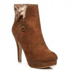 Semišové členkové topánky na zips FM259CA Booty, Ankle, Heels, Fashion, Heel, Moda, Swag, Wall Plug, Fashion Styles