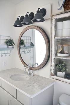 34 Cheap DIY Bathroom Ideas Cheap Bathroom Decor Ideas – DIY Farmhouse Bathroom Vanity Light Fixture – DIY Decor and Home Decorating Diy Bathroom, Rustic Bathroom Vanities, Rustic Bathrooms, Bathroom Styling, Bathroom Ideas, Bathroom Storage, Small Bathroom, Bathroom Remodeling, Bathroom Hooks