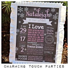 Winter Wonderland or Frozen inspired by CharmingTouchParties