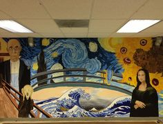 love this mural idea!! Great for the art room!!!