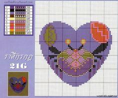 Zodiac Cancer Cross Stitch Pattern 1/2