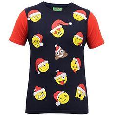 Herren Weihnachten T-shirt Ho Ho Ho Weihnachten Emoji Weihnachtsmann Elfen Rentier Neuheit Oberteil