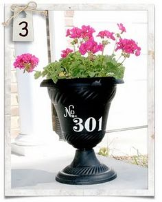 Address Flower Pot! Can't wait to do this!