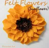 Felt Flowers (Sunflowers)