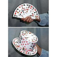 What to do with that old deck missing a card: make a tophat :-)