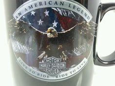 X-Large Harley Davidson Ceramic Coffee Cup Mug Eagle Soars Megamug #HarleyDavidson