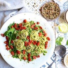 Using organic ingredients from Faithful to Nature, here's an easy recipe for The ultimate green basil pesto pasta that's healthy and delicious! Chicken And Leek Casserole, Basil Pesto Pasta, Vegetarian Recipes, Healthy Recipes, Veggie Recipes, Healthy Food, Easy Weekday Meals, Green Pesto, Roasted Cherry Tomatoes