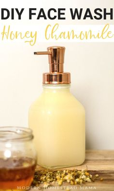 DIY Face Wash - honey chamomile for sensitive skin and anti-aging diyskincare D .DIY Face Wash - Honey Chamomile for Sensitive Skin and Anti-Aging diyskincare DIY Honey Chamomile Face Wash Recipe Homemade Skin Care, Diy Skin Care, Homemade Face Wash, Homemade Scrub, Homemade Facials, Homemade Beauty Products, Lotion Bars Diy, Skin Care Routine For 20s, Skincare Routine