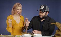 """""""Fantastic Beasts"""" Stars Dan Fogler & Alison Sudol Make Pumpkin Pasties"""
