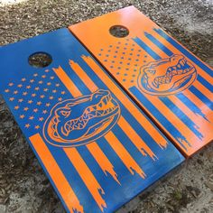 Florida Gators Cornhole Set w/ Bean Bags by BlakesCustomCornhole