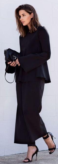 Ellery Black Perfect Flare Pants