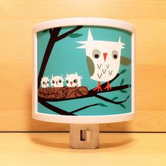 Owls Are Hoo Night Light now featured on Fab.