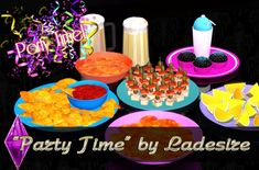 Party Time food decor by Ladesire - Sims 3 Downloads CC Caboodle