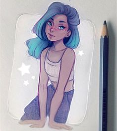 She reminded me of galaxies ✨ Thanks for all the love and support <3  To see…