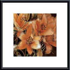 'Apricot Dream I' by Lane Ashfield Framed Painting Print