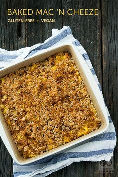 Baked Macaroni 'n Cheese (vegan, gf)