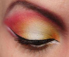 Plumeria Flower eye makeup