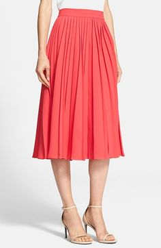 My style: Beautiful color and movement! I would have to try on to see if the length of this Kate Spade skirt hits my legs in the right place. #21StepsStyleCourse
