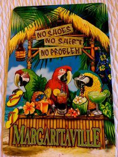 ۞ The Gentleman Jimmy Buffett Margaritaville, Tiki Art, My Pool, Beach Signs, Tropical Decor, Beach Art, Summer Fun, Parrot, Pigeon Forge