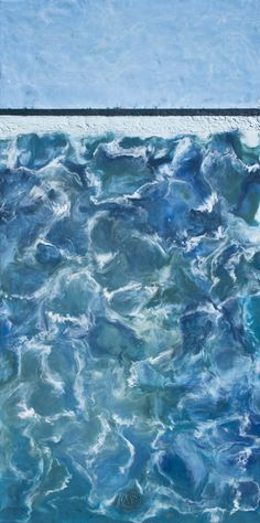 Encaustic Art Encaustic painting Abstract Art Hot Beeswax Sea