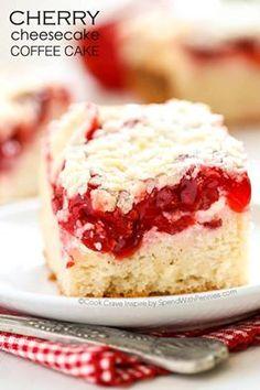 Wake up tomorrow to this Cherry Cheesecake Coffee Cake!