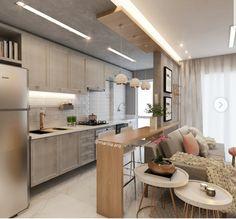 Future Home Interior .Future Home Interior Kitchen Sets, Living Room Kitchen, Home Decor Kitchen, Interior Design Living Room, Loft Kitchen, Kitchen Layout, Apartment Interior, Apartment Design, Patio Interior