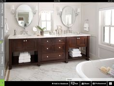 dark wood bathroom vanity for photos dark wood bathroom vanity. Take the most update Glamorous photos of dark wood bathroom vanity tagged at stagede. Dark Cabinets, Wood Cabinets, Bathroom Cabinets, Espresso Cabinets, Cherry Cabinets, Cupboards, Bad Inspiration, Bathroom Inspiration, Bathroom Bath