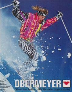 80s Ski Outfits are so cool! Bring them back this Winter? #Morzine