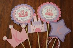 Princess Party  Centerpiece  Castle  Crown  by WhimsicallyCreated