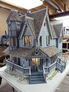 Haunted Dollhouse, Victorian Dollhouse, Diy Dollhouse, Victorian Homes, Fairy Houses, Doll Houses, Mini Doll House, Doll House Plans, Miniature Houses