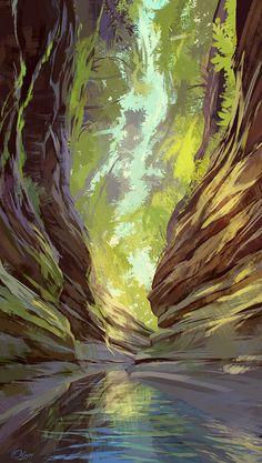 Canyon by O-l-i-v-i.deviantart.com on @DeviantArt