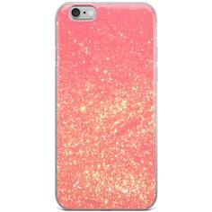 Pink iPhone Case, Glitter Phone Case, Cool iPhone 6 Case, Girly iPhone... ❤ liked on Polyvore featuring accessories, tech accessories, iphone cases, iphone cover case, apple iphone case, iphone sleeve case and pink iphone case