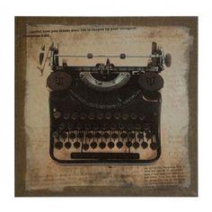 Vintage Typewriter Canvas