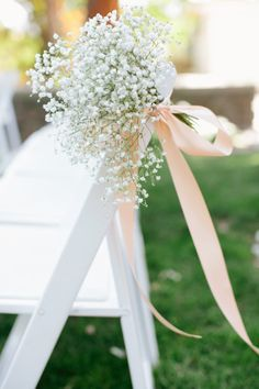 baby's breath for church pews