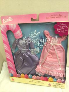 2001 Mattel BARBIE - Nutcracker Fashion Gift set UNOPENED ! (packaging error) Crochet Barbie Clothes, Doll Clothes Barbie, Mattel Barbie, Barbie Nutcracker, Barbie 2000, Barbie Wedding Dress, Christmas Barbie, Barbie Doll Accessories, Barbie Outfits
